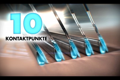 """TVC: Wilkinson HYDRO """"10 Kontaktpunkte Promotion"""""""
