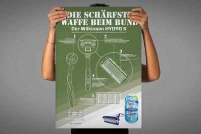 """Poster: Wilkinson """"HYDRO 5 Bundeswehr Starterpaket"""""""